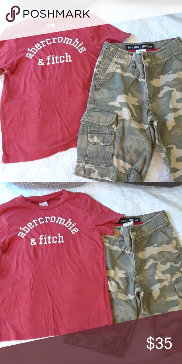 fbf47d5499 NWOT 12 BOYS ABERCROMBIE GAP LOT NWOT 12 BOYS GAP CAMO CARGO SHORTS & BOYS  LARGE