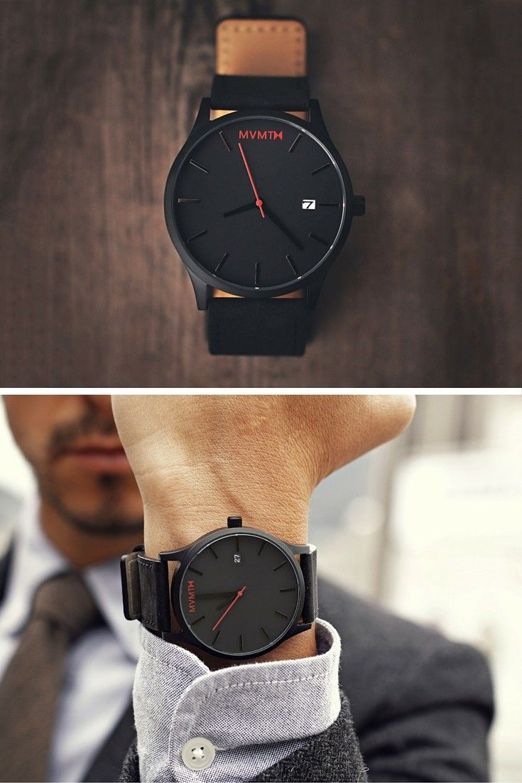 Mvmt Uhren Classic Black Leather In 2019 Men Street Styles Mvmt Watches