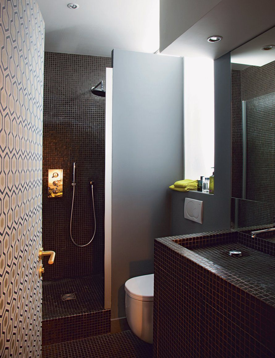 salle de bains 5m2 homeezy. Black Bedroom Furniture Sets. Home Design Ideas
