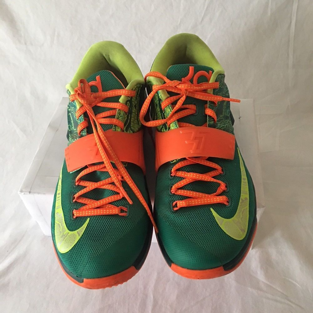 a411bc5c75eb Nike Kevin Durant KD 7 VII Weatherman Emerald Green Orange Men s Size 10.5   fashion  clothing  shoes  accessories  mensshoes  athleticshoes (ebay link)