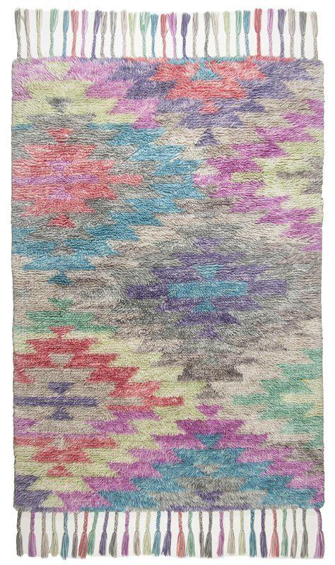 Tom Tailor Handgewebter Teppich Funky Flocatic Vintage In Bunt