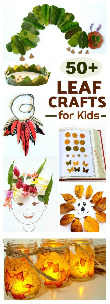 Leaf Crafts for Kids #leafcrafts