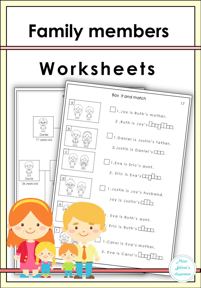 Family Members Worksheets Worksheets Family Tree Family [ 1090 x 761 Pixel ]