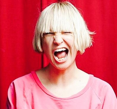 Sia there's something in my eye face