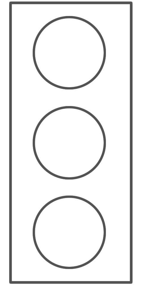 Blank stoplight for relapse prevention plan//safety