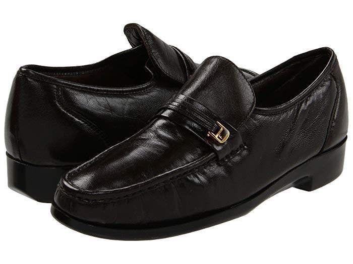 Florsheim RIVA Mens Black Leather Slip On Loafers Business Dress Formal Shoes