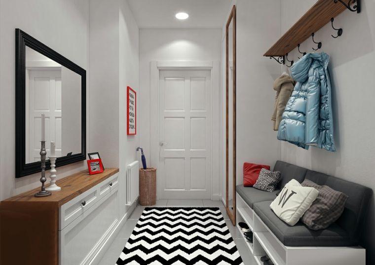 Ingresso Moderno Suggerimento Originale Casa Moderna Interior