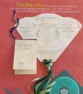 Wedding Ceremony Program Fan TEMPLATE
