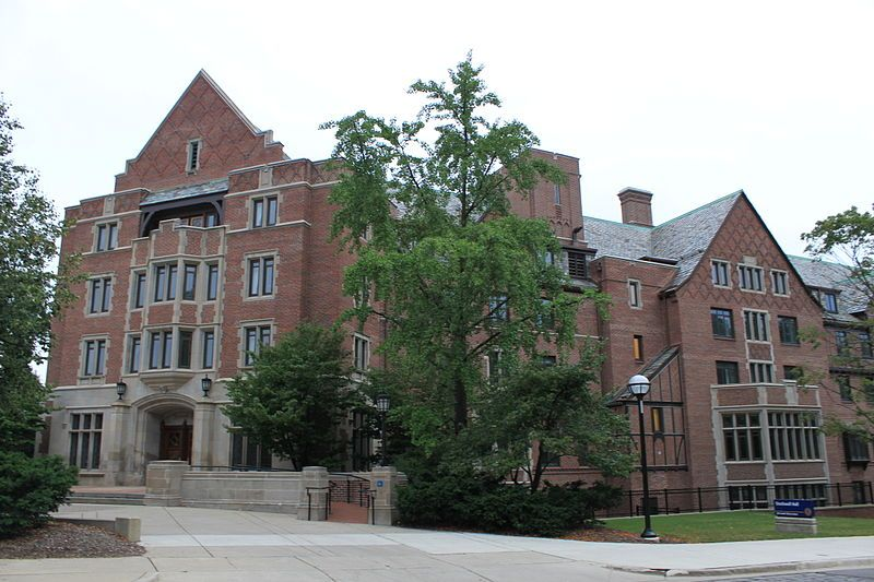 Stockwell Hall, completed in 1940 at a cost of $1 million, is a formerly all-female (now coed) residence hall at the University of Michigan in Ann Arbor. It houses 418 predominantly second-year students. It was named after Madelon Louisa Stockwell of Kalamazoo, Michigan, the first woman admitted to the University in 1870.