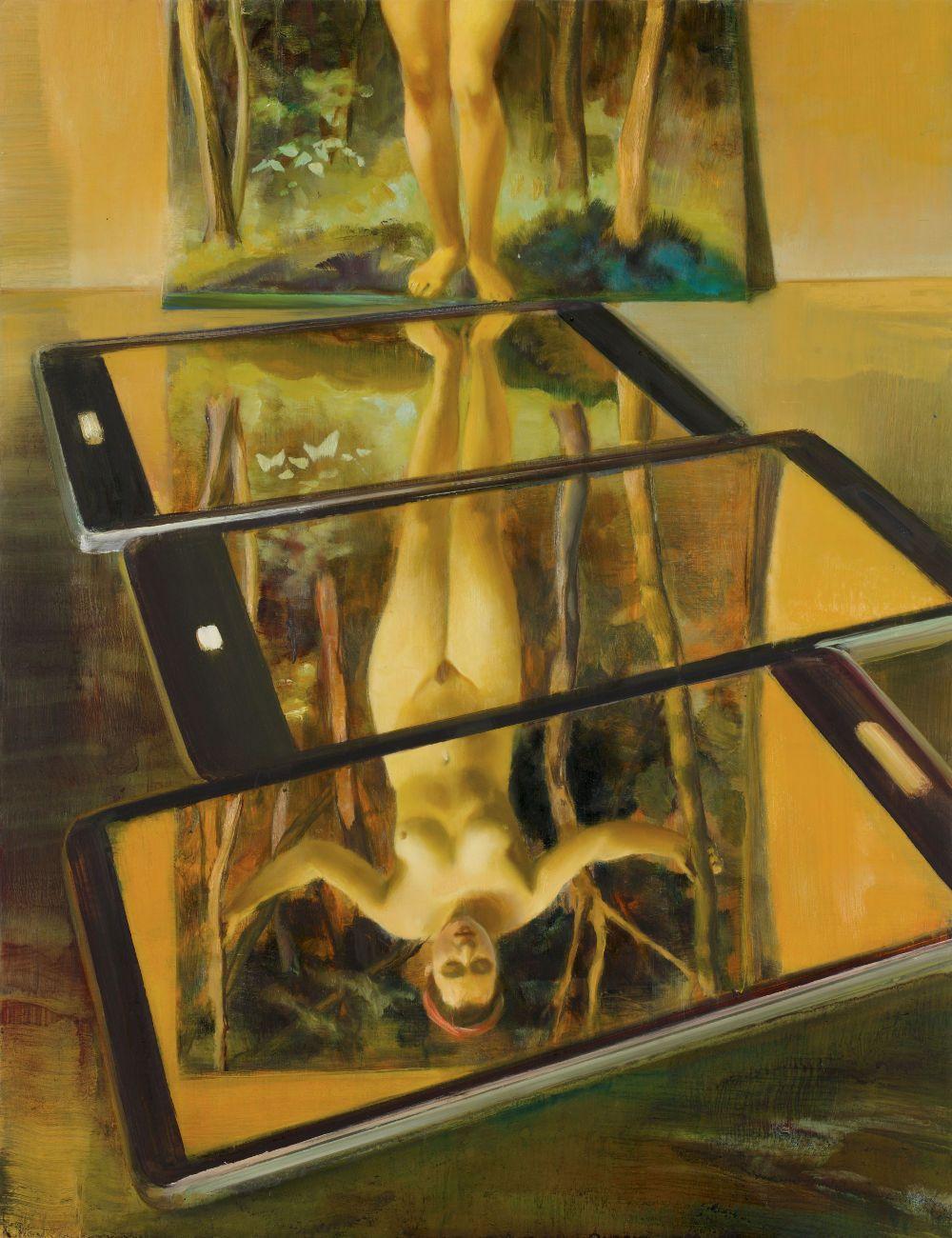 Stephan Melzl Smartphones 2012 öl Auf Holz 65 X 50 Cm Sammlung