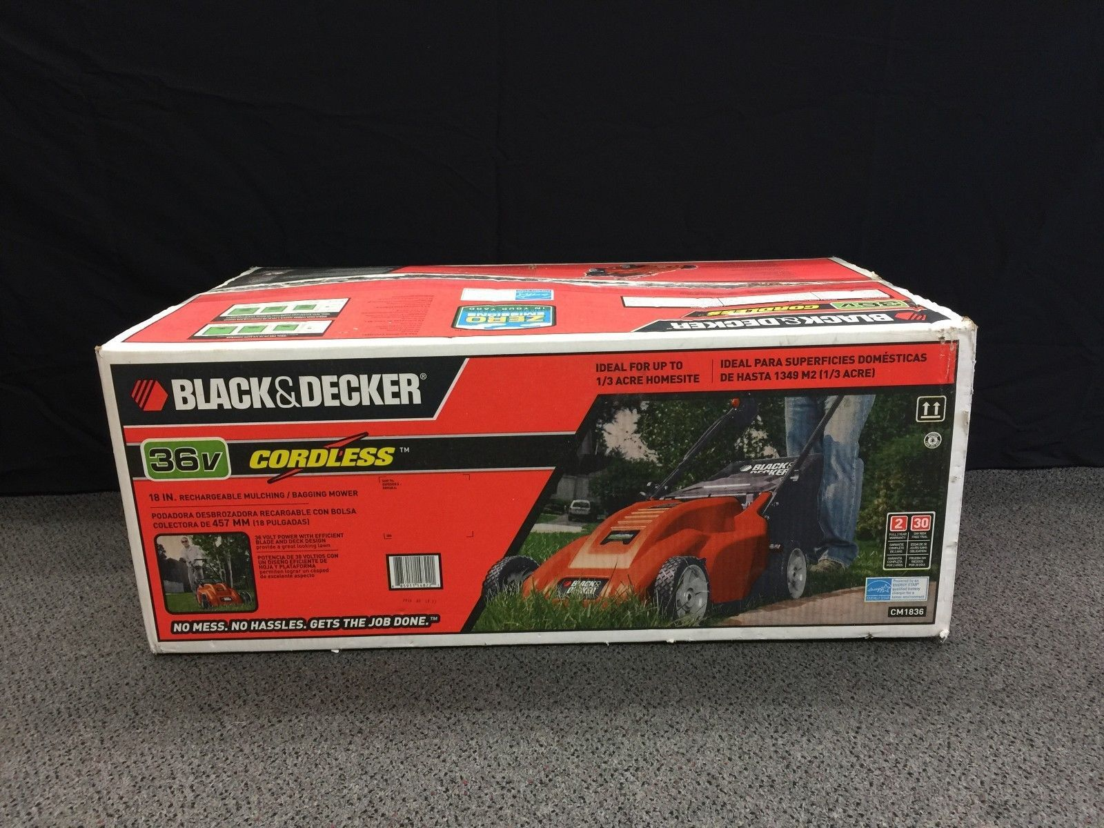 Black & Decker Electric Lawn Mower Home idea Pinterest