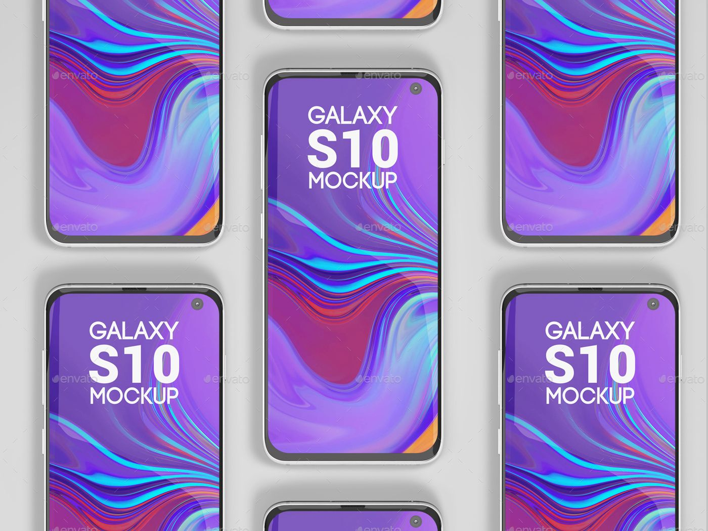 Phone S10 Screen Mockup
