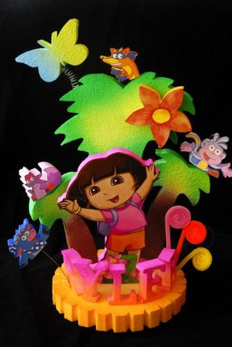 DORA THE EXPLORER and friends CAKE TOPPER Flower cake toppers