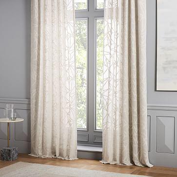 Sheer Abstract Glass Curtain Glass Curtain Geometric Curtains