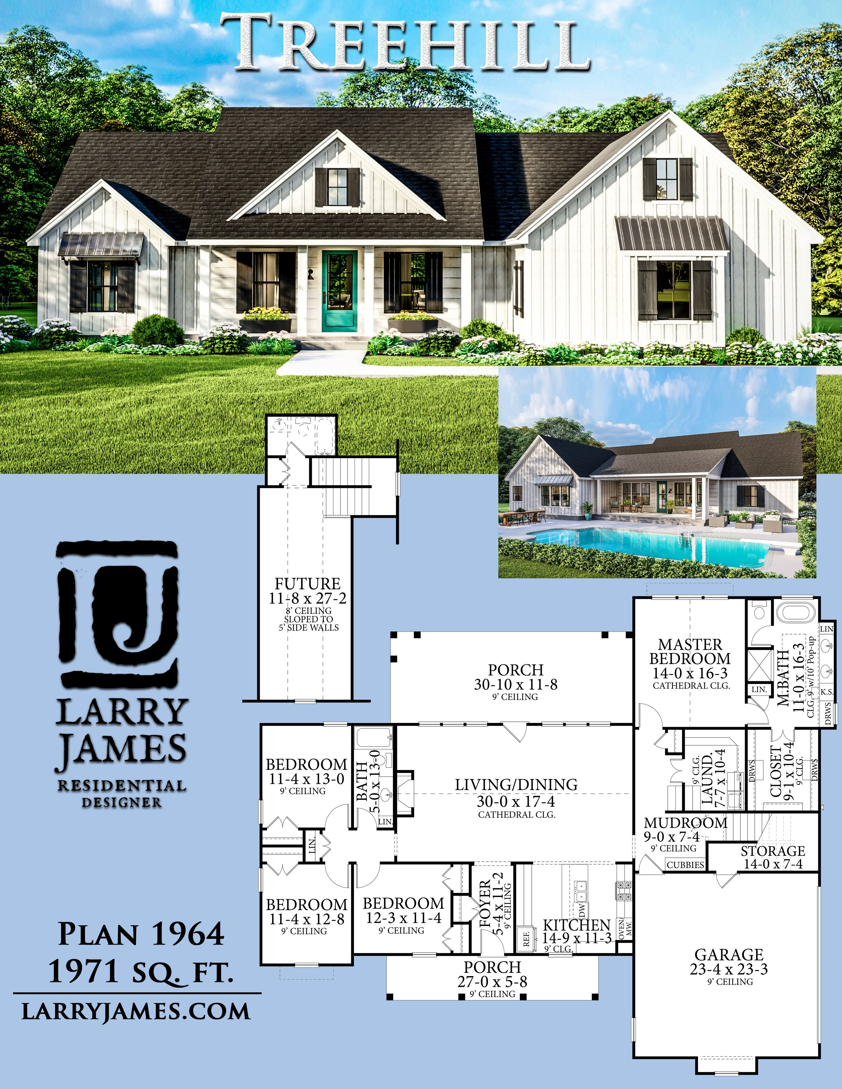Treehill Plan 1964 Farmhouse Style House Plans Family House Plans Country House Plans