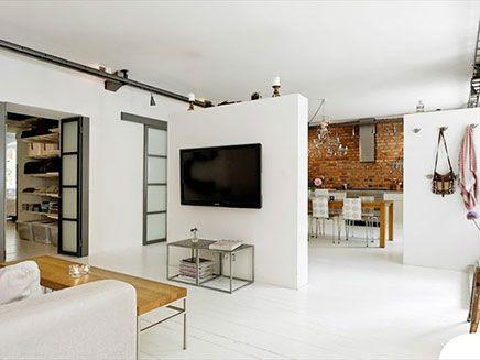 Woonkamer inrichten met scheidingswanden | Raumteiler, Wohnzimmer ...