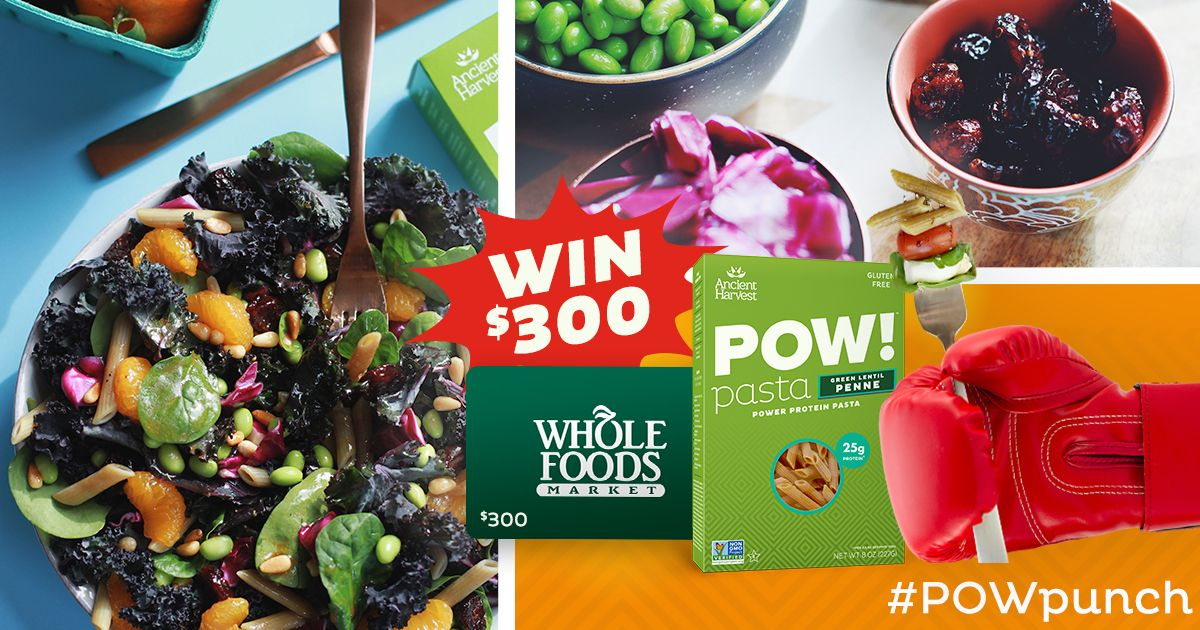 Enter To Win A 300 Whole Foods Gift Card To Pick Up Your Ancient Harvest Powpunch Favorites Whole Food Recipes Whole Foods Gift Card Food Gift Cards