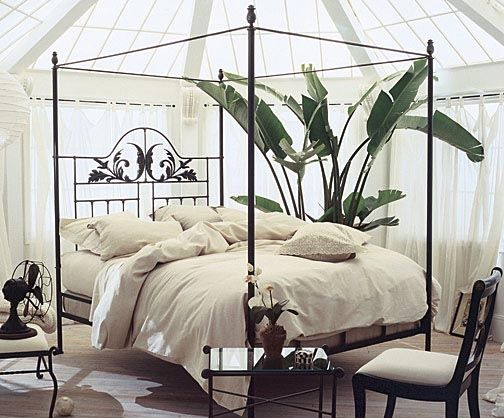 Iron Four Poster Bed our romantic harvest moon iron canopy bed features a hand-forged