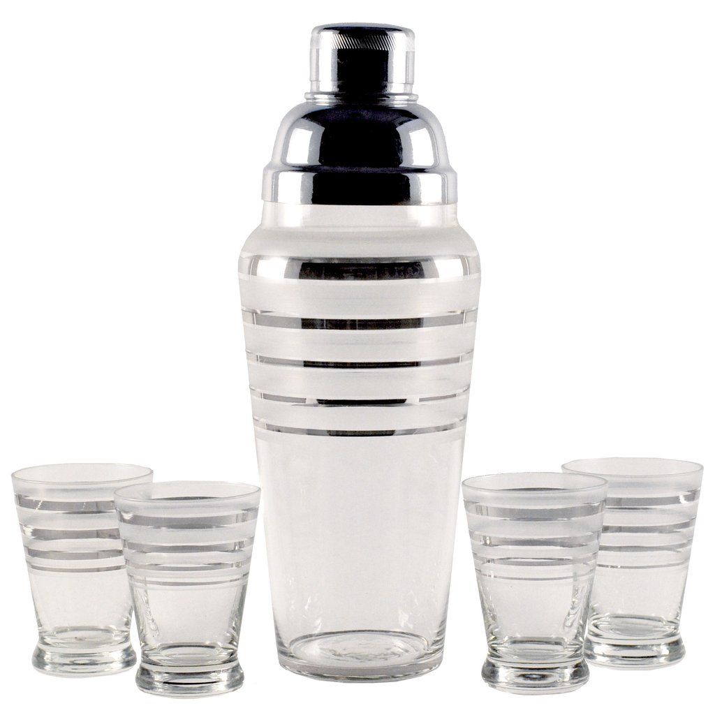 silver  frost band shaker set  frosting and products - silver  frost band shaker set