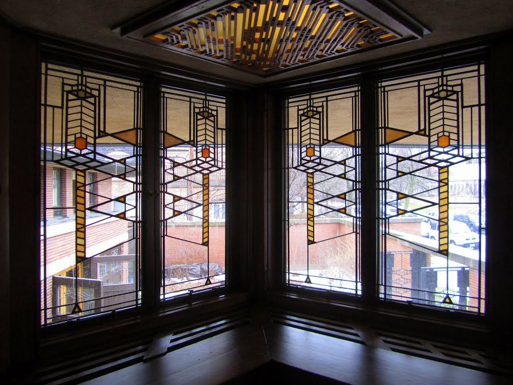 Image result for robie house stained glasses frank lloyd wright images