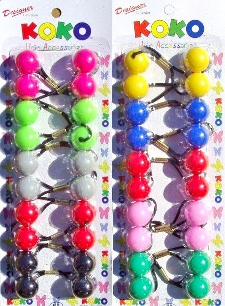 Color Acrylic Ball Hair Clips Girls Hairgrips  Barrettes Acrylic Hairclips