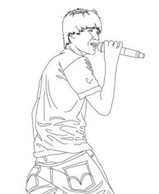 Here you can find Justin Bieber coloring pages! | Justin Bieber ...