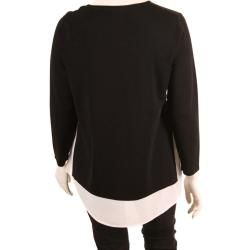 Photo of Via Appia Black Sweater With Bl …