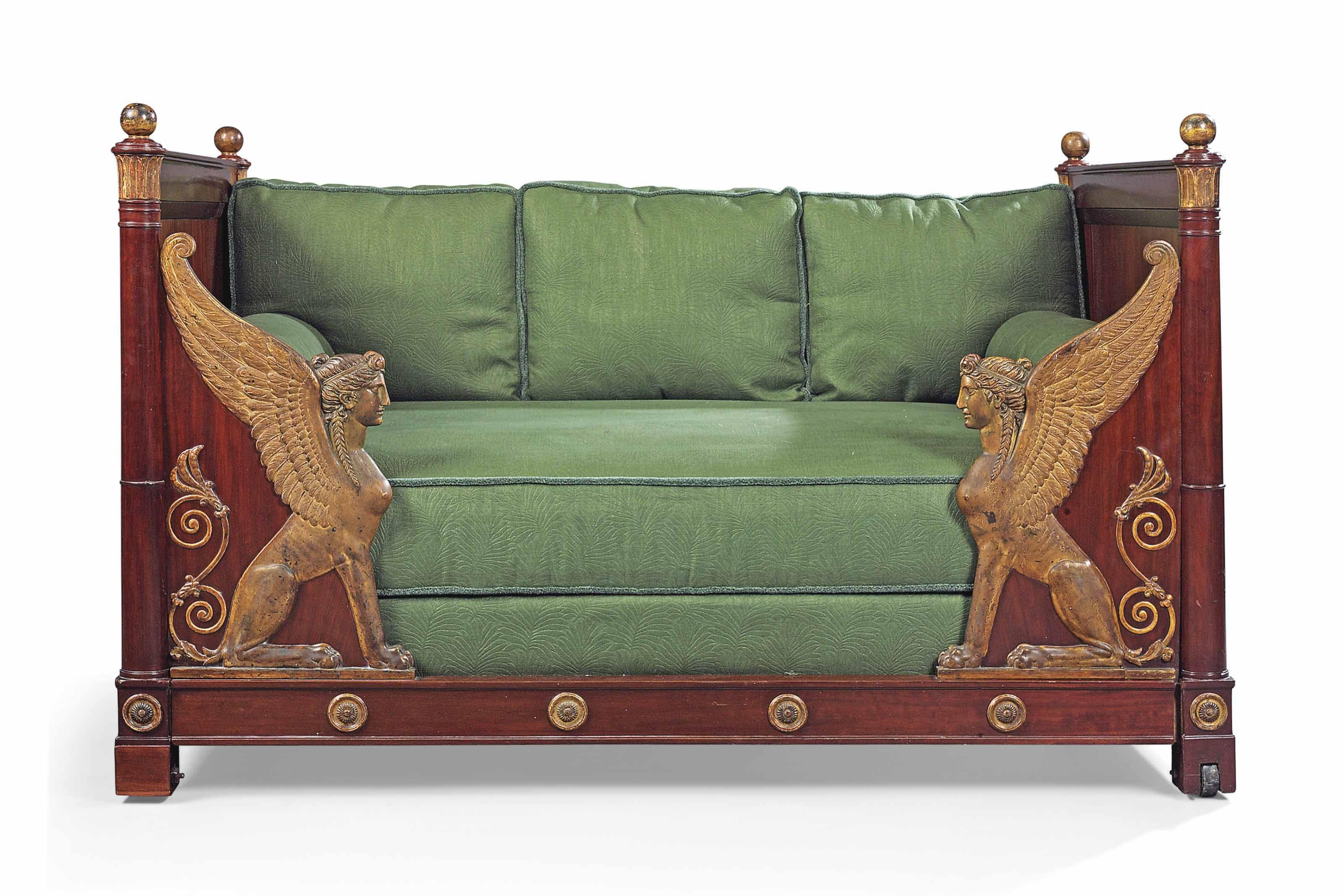 C1800 A Directoire Parcel Gilt Mahogany Lit En Bateau By Bernard Molitor Circa 1800 Price Realised Gbp 20 0 Empire Furniture Furniture Neoclassical Furniture