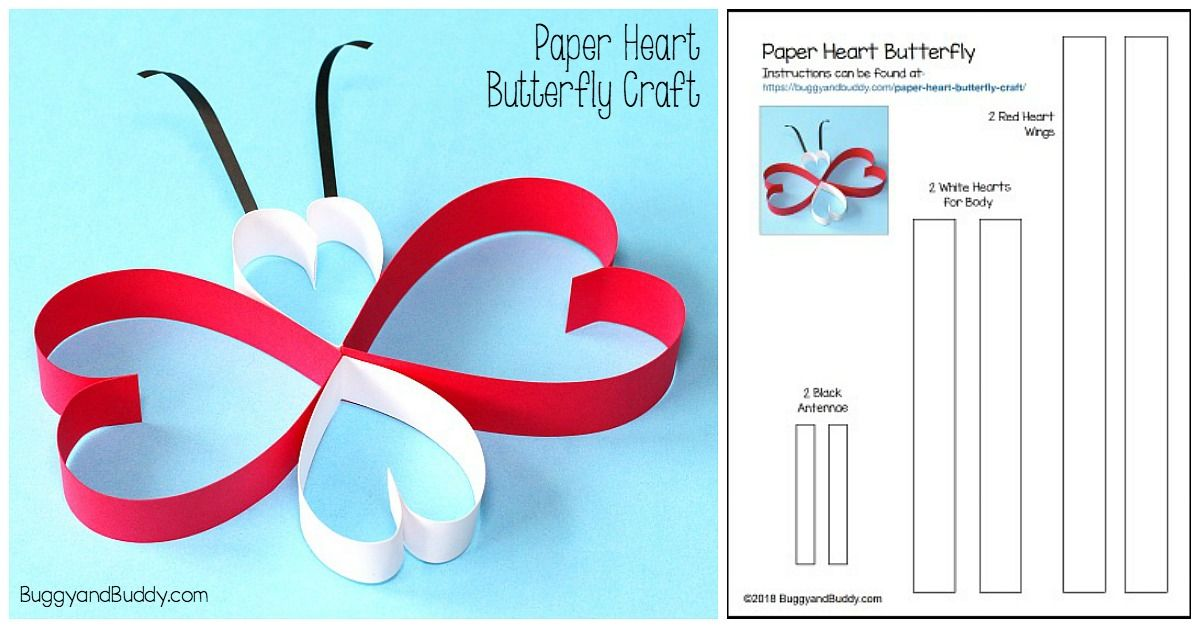 25 butterfly crafts heart