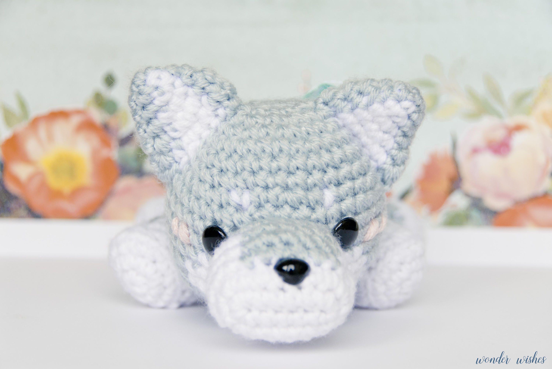Wolf Amigurumi Stuffed Animal, crochet wolf doll, amigurumi wolf ...