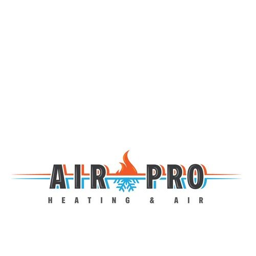 Airpro Heating And Air Retro Style Heating And Air Logo