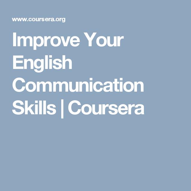Improve Your English Communication Skills   Coursera