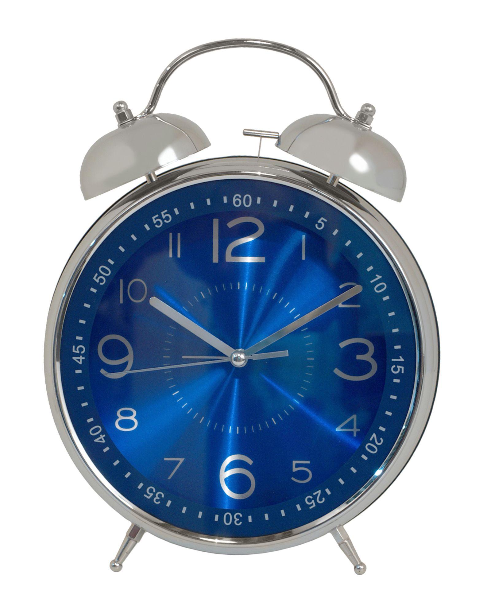 Three Hands Corp Chrome Metal Clock