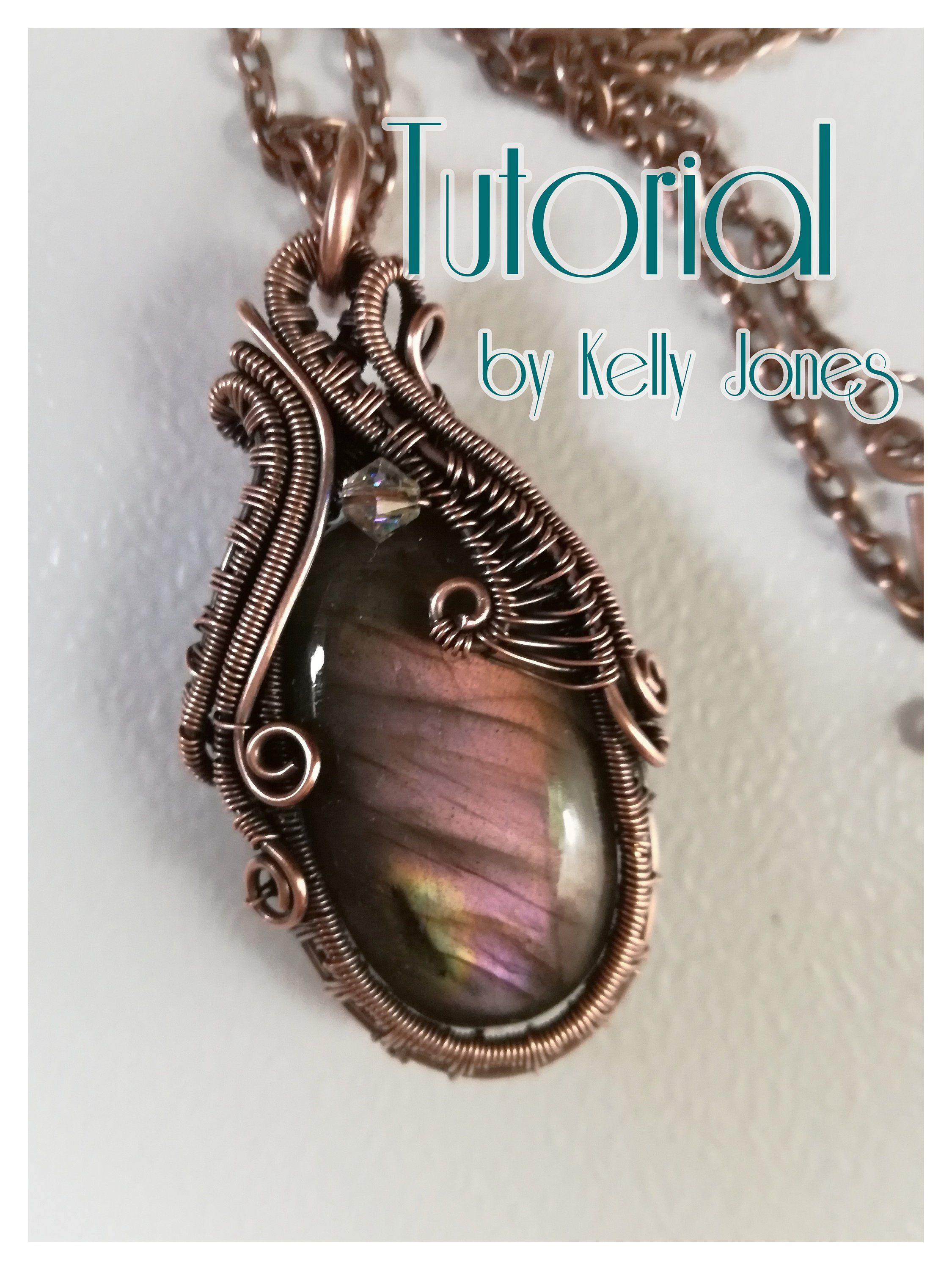 Wire Wrapping Instructions | Lyre Impression Pendant Wire Wrap Tutorial An Instant Download With