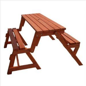 Amazing Convertible Picnic Table It Transforms Into A Bench It S The Optimus Prime Of Outdoor Furniture Picnic Table Bench Picnic Table Folding Picnic Table