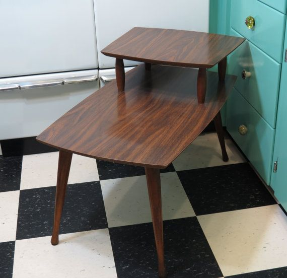 Mid Century Modern Step End Table 1950s Eames Era U2014