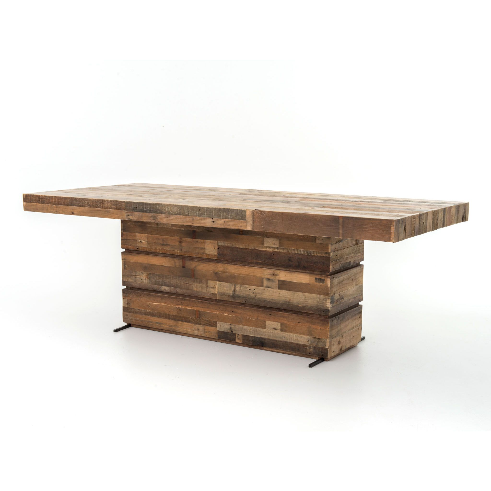 his 89 inch Dining Room Table exposes the knots and natural imperfections that make each unique and subtly one of a kind ensuring no two pieces are ever like.