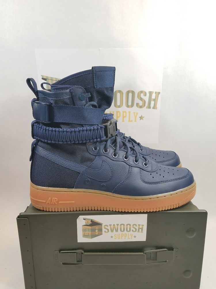 adfd59ca0bfda7 Nike SF AF1 Air Force 1 Special Force Midnight Navy Gum 864024 400 Size 10   Nike  AthleticSneakers