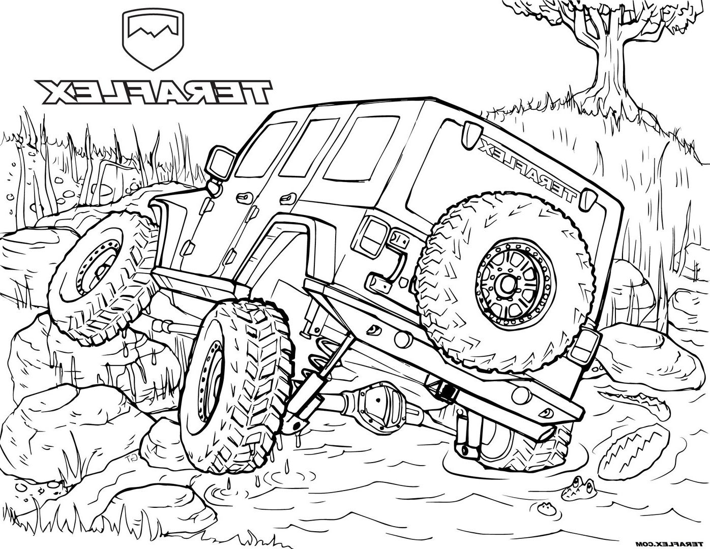 Jeep Coloring Pages IBY7 Gallery 'teraflex: Jeep Coloring ...