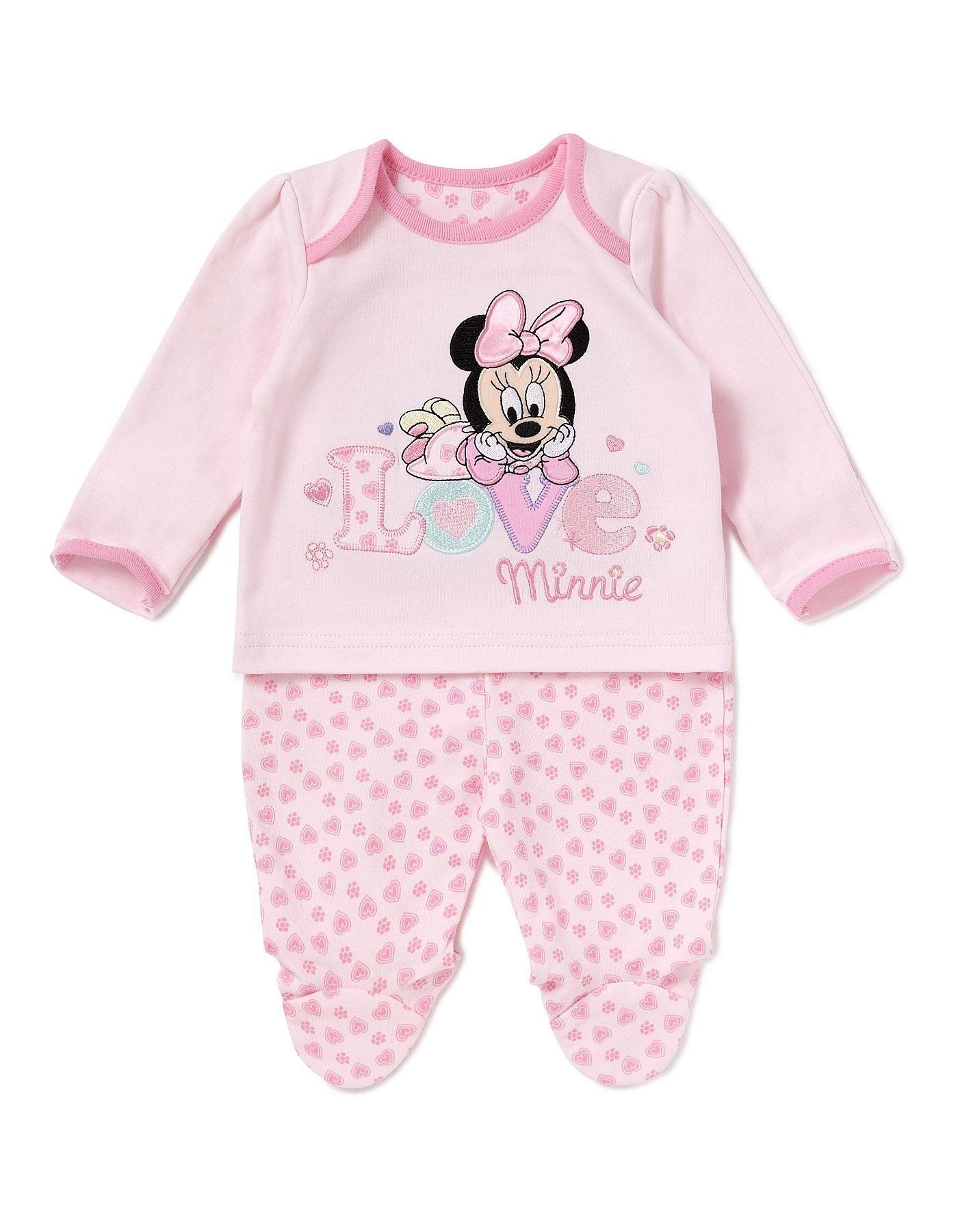 Minnie Mouse Baby Pyjama Set Baby George at ASDA