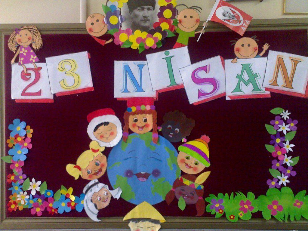 Esesesrara Adli Kullanicinin Sinif Suslemeleri Panosundaki Pin Nisan Sanat Etkinlikleri Ortaokul Sanati