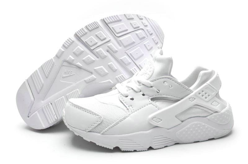 super popular dfd96 52c5a New Arrival Nike Air Huarache Kids Shoes Triple White | Kids ...