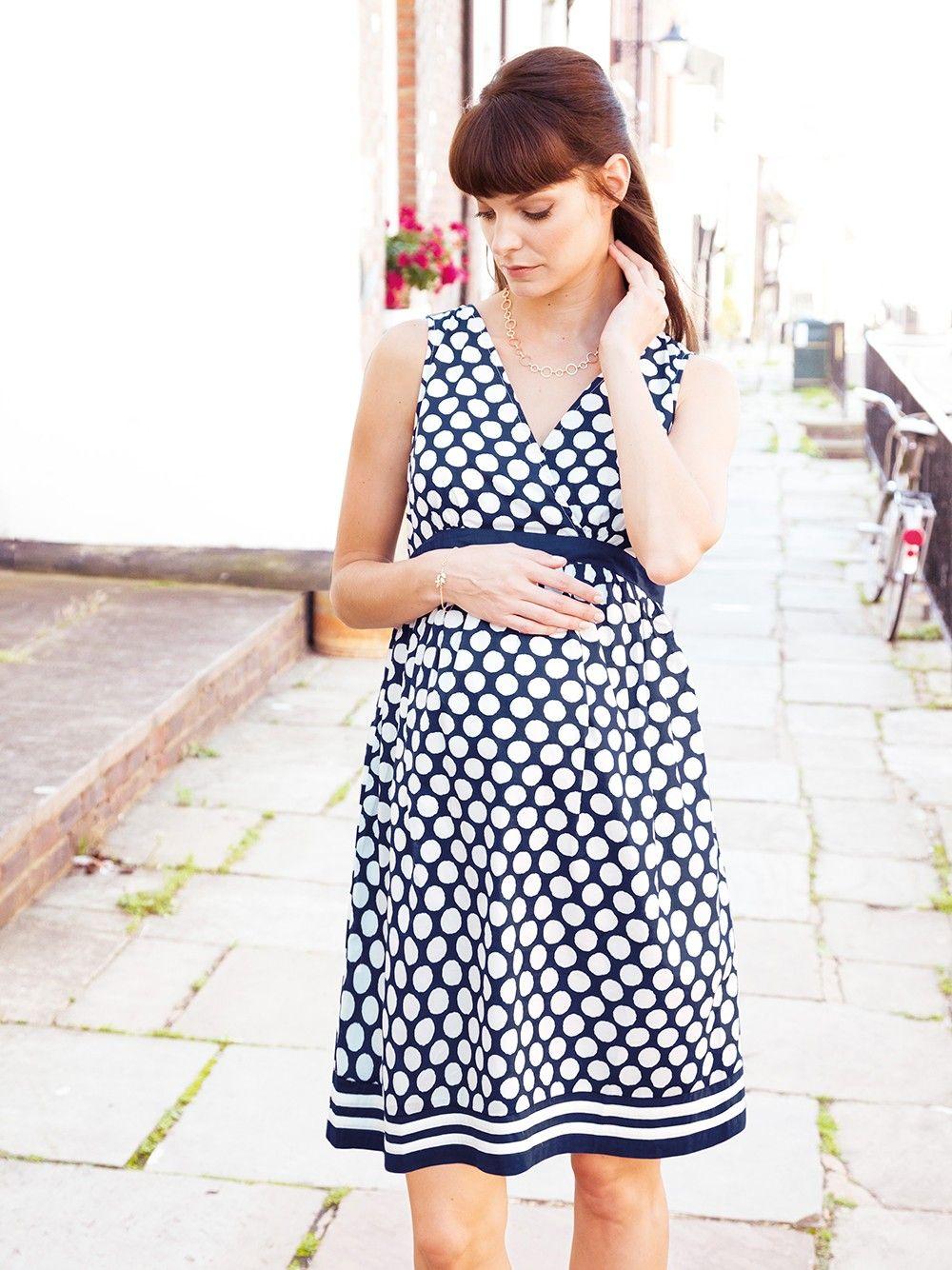 e27774a712bfa Navy Spot Maternity Dress | JoJo Maman Bebe | My (Virtual) Closet ...