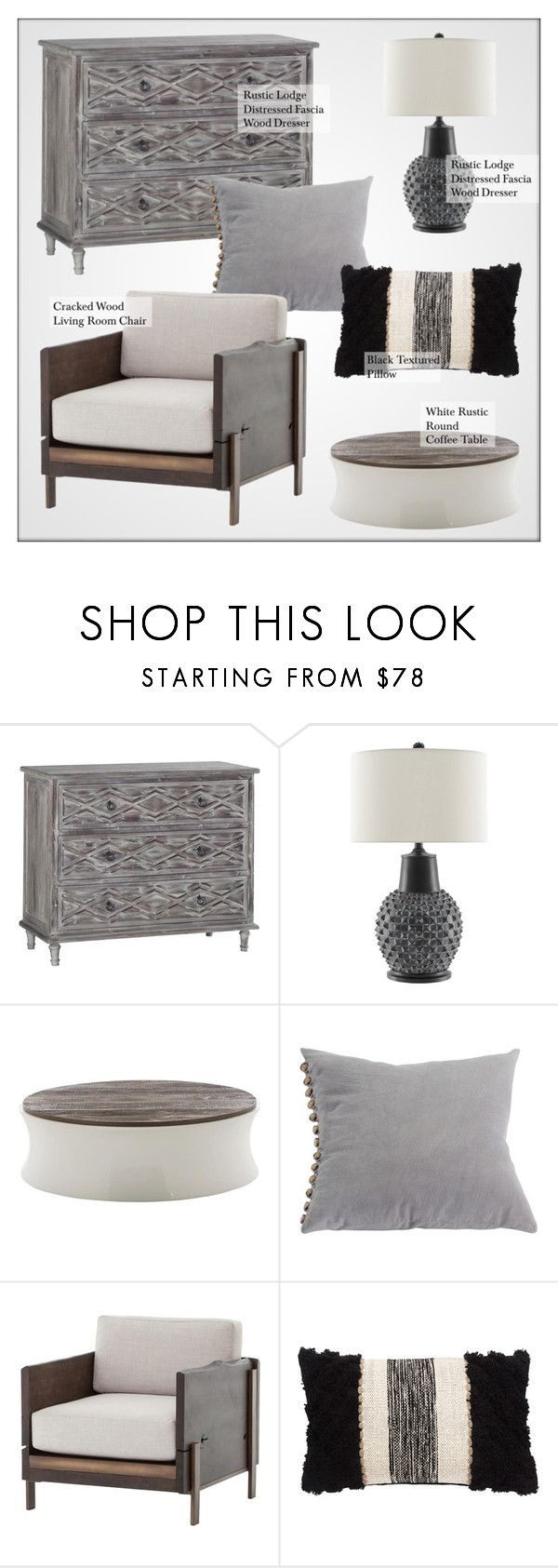 """""""Rustic Decor"""" by kathykuohome ❤ liked on Polyvore featuring interior, interiors, interior design, home, home decor, interior decorating, rustic, livingroomdecor and rusticlodge"""