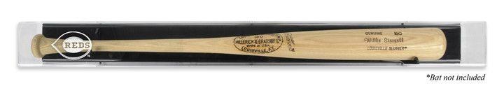 cincinnati reds logo deluxe baseball bat display case