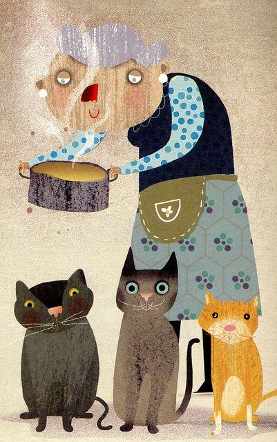 © Il·lustració d'Àfrica Fanlo «En Maure i el follet Cacagroga» Text de Gisela Asensio