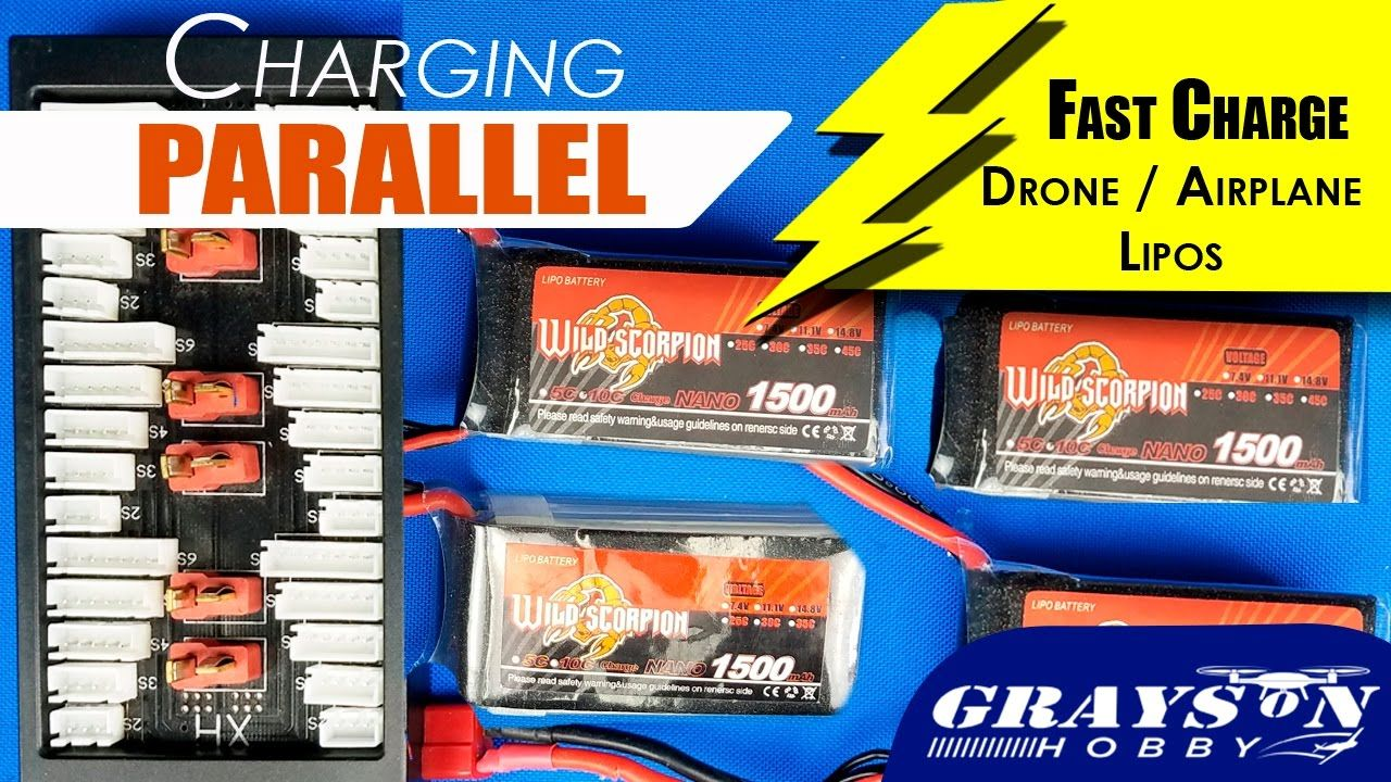 Fast Charging Drone & Airplane Lipo Batteries with