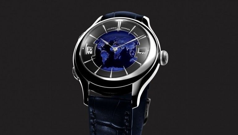 Laurent Ferrier Galet Traveller Globe Night Blue   14 Prime Examples of the Blue Trend in Watchmaking [SLIDESHOW]