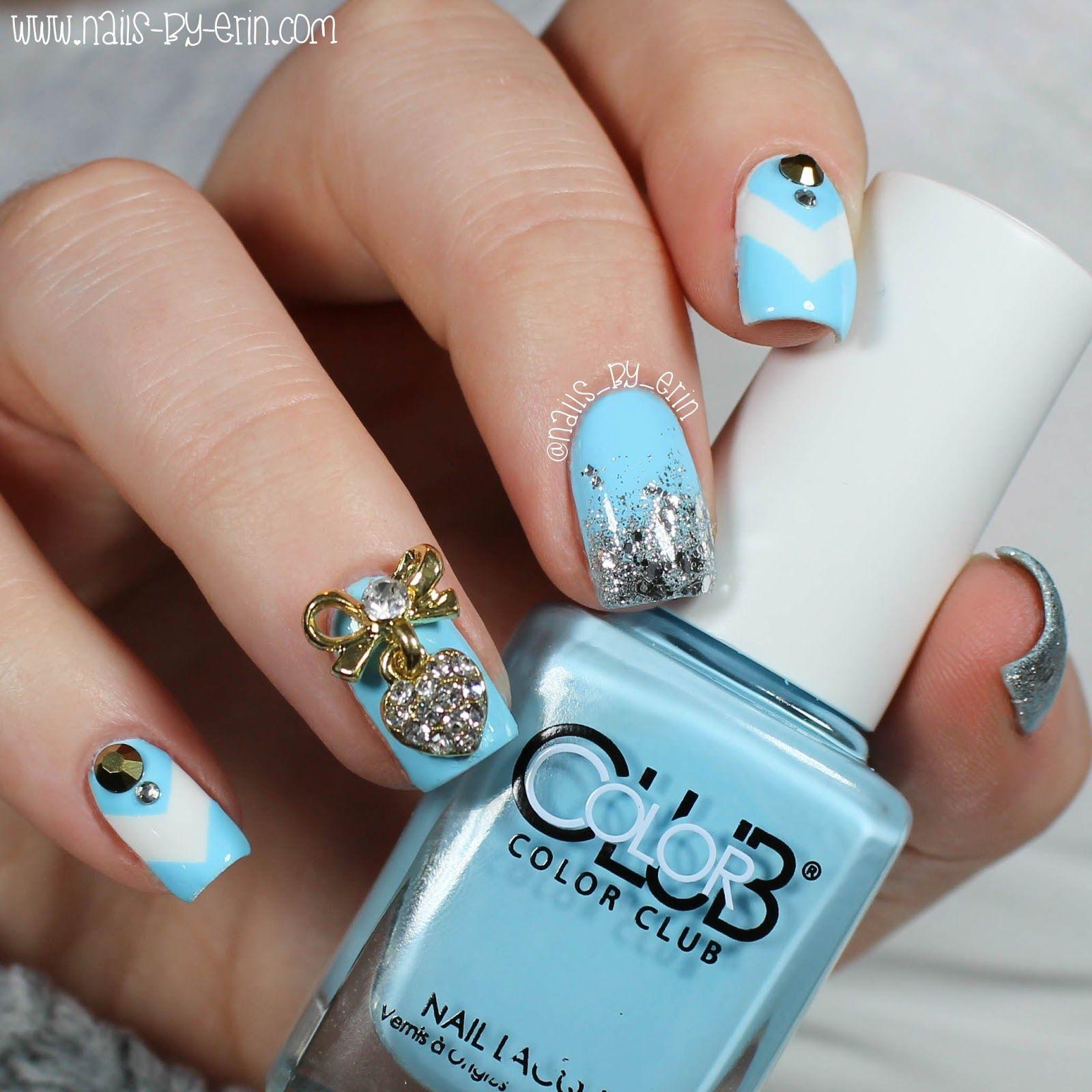 Blue and Silver Bling Nails | NailsByErin | My Nails | Pinterest ...