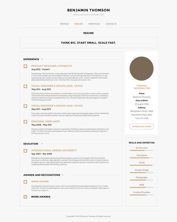 Clean digital resume style. Creative resume style, creative cv ...